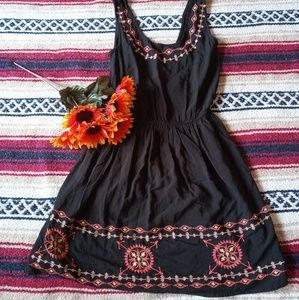 Wet Seal Embroidered Mini Dress